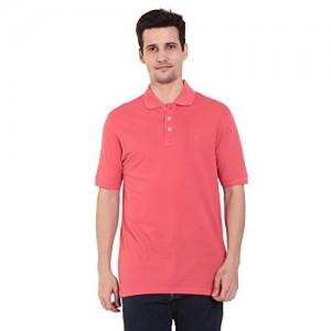 33e94f7105 CHKOKKO Mercerised Cotton Three button Half sleeves Regular Fit polo T shirt  for Men
