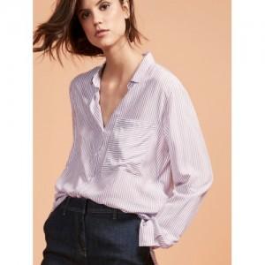 next Women Lavender Regular Fit Striped Semiformal Shirt