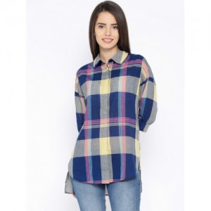 ONLY Blue & Yellow Checked Shirt