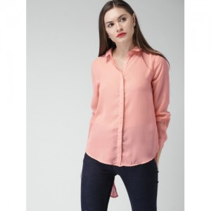 Mast & Harbour Pink Solid Casual Shirt