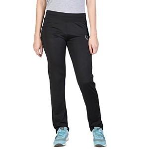 ONESPORT WOMEN'S POLYESTER SPANDEX JERSEY BLACK TRACK PANTS