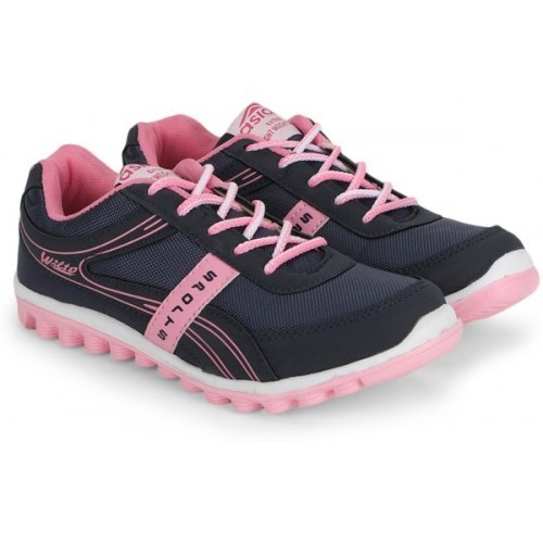 Asian Navy Blue Mesh Lace Up Running Shoes