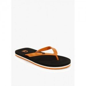 United Colors of Benetton Orange & Black EVA House Slippers
