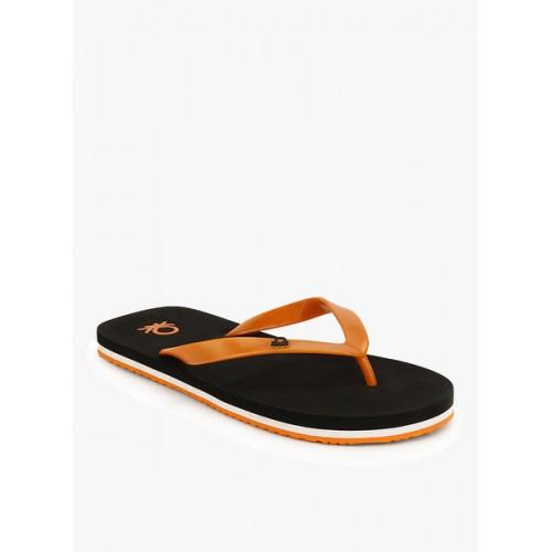 United Colors of Benetton Orange & Black EVA House Slippers