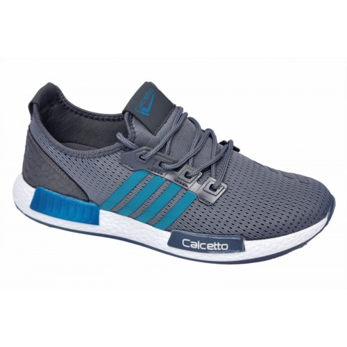 Buy Calcetto Brand Mens Grey S.Green Sports Shoes 7531 online ... 7e1cd791303