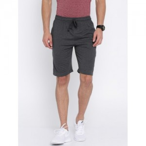 Aventura Outfitters Men Charcoal Grey Solid Regular Fit Shorts