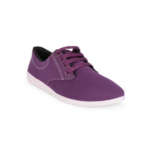 Action Shoes purple canvas laceup casual shoes