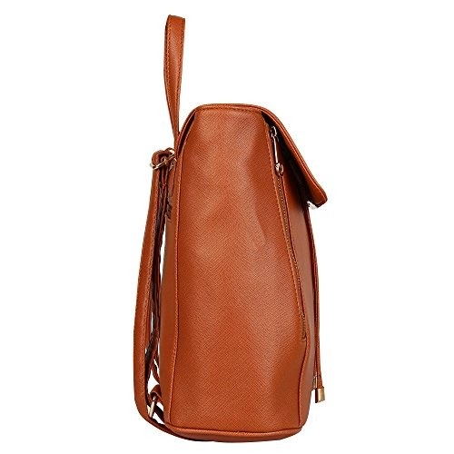 ab5e3366a6a6 Buy Lychee Bags Girls Tan PU Cadence Backpack online