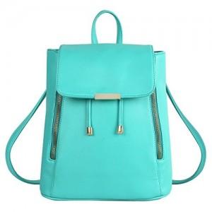 Lychee Bags Girls Green PU Cadence Backpack
