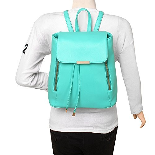 Lychee Bags Girls Green PU Cadence Backpack