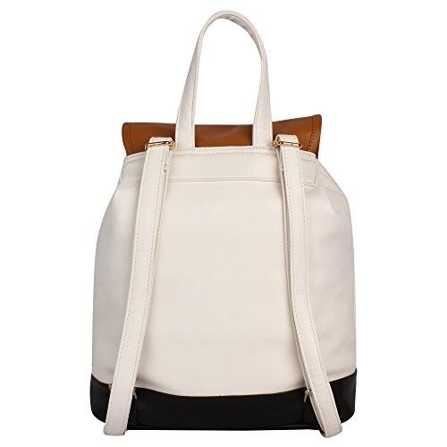 Lychee Bags PU Kim Backpack for Girls( White)