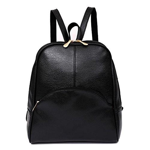 ... Rrimin Korean Casual Backpack Women PU Leather Bag Shoulder Bag Girls  Handbag ... 3e0dd9707cd48
