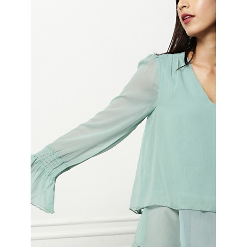 all about you from Deepika Padukone Women Blue Solid Top