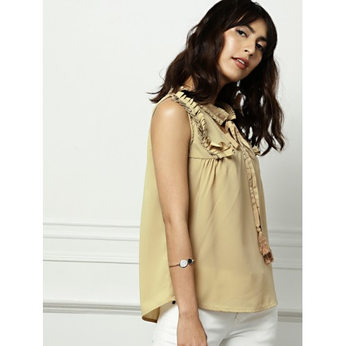 all about you from Deepika Padukone Women Beige Solid Top