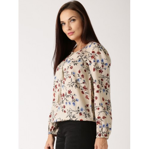 All About You from Deepika Padukone Beige Printed Polyester Top