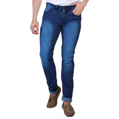 Denim Vistara blue cotton washed jeans