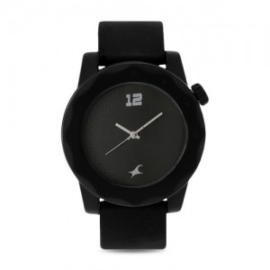 Fastrack NG38022PP03 Black Plastic Unisex Analog Watch