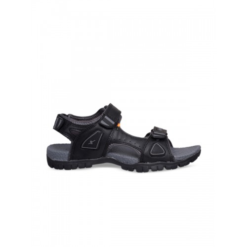 Sparx Men Black & Grey Comfort Sandals