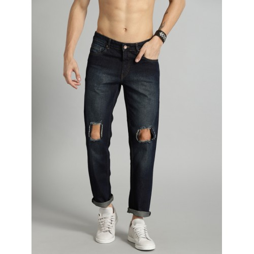 Roadster Men Blue Slim Fit Mid-Rise Mildly Distressed Jeans