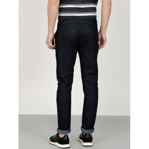 ether Men Blue Skinny Fit Mid-Rise Clean Look Stretchable Jeans