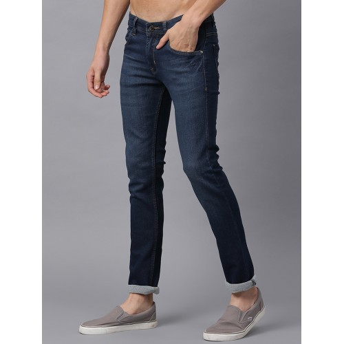 Stylox blue cotton washed jeans