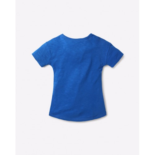 POINT COVE Graphic Print High-Low T-shirt