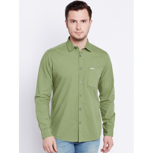 c75cd6b41e6 Buy Pepe Jeans Men Olive Green Solid Casual Shirt online ...