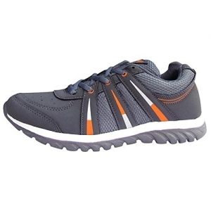 Lancer Black Synthetic Mid Ankle Runnning Shoes