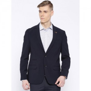 Arrow Navy Single-Breasted Body Regular Tailored Fit Formal Blazer