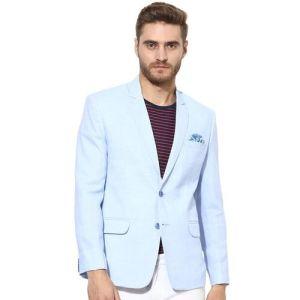 HANGUP Light Blue Textured Blazers