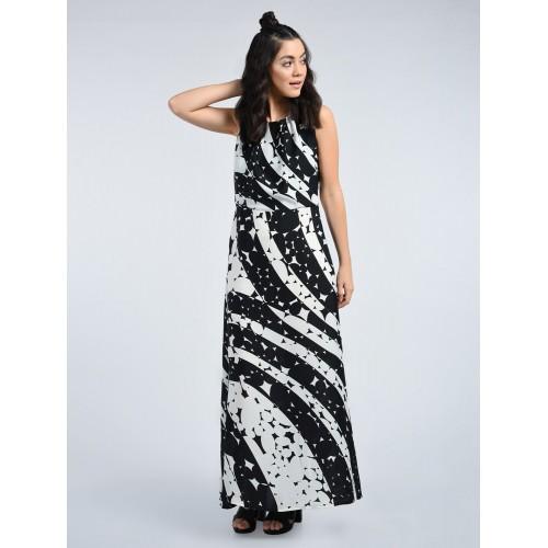 ae13b3b597 Buy A K Fashion black printed maxi dress online | Looksgud.in