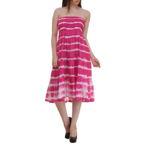 790f2071887 Buy Ruhaan s pink cotton tube dress online