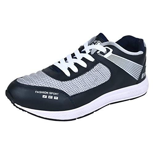 EARTON blue Leatherette lace up sport shoe