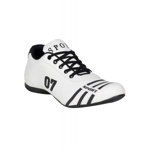 Buy Kraasa white leatherette sport shoe