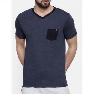 PROLINE navy blue cotton pocket t-shirt