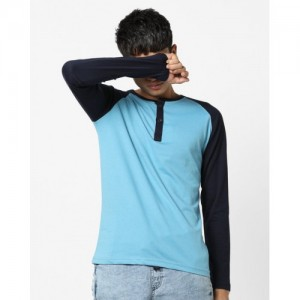 Fort Collins Henley T-shirt with Contrast Raglan Sleeves
