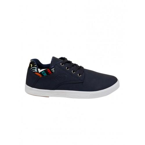 Vostro blue leatherette lace up sneaker
