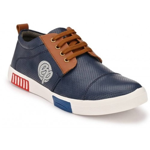 Big Fox Navy Blue Synthetic Leather Casual Sneakers.