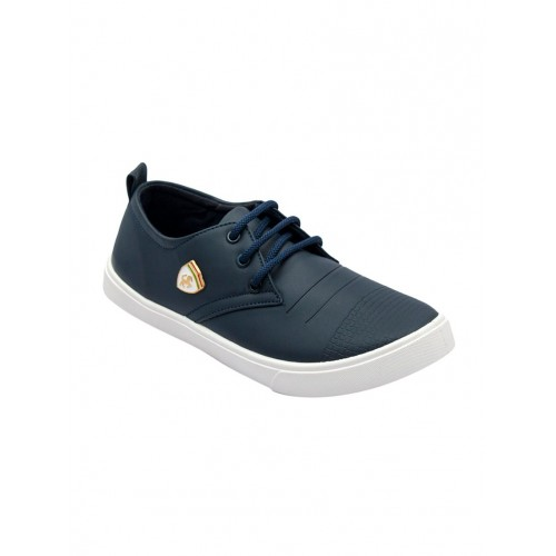asian blue leatherette lace up sneaker