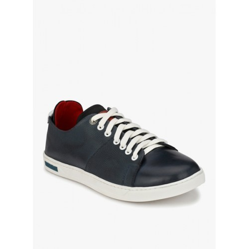 Alberto Torresi blue leatherette lace up sneaker