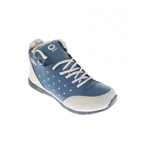 Khadims blue leatherette lace up sneaker