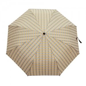 Asera 3 Fold Manual Open Umbrella Check Design for Girls Ladies Boys Gents