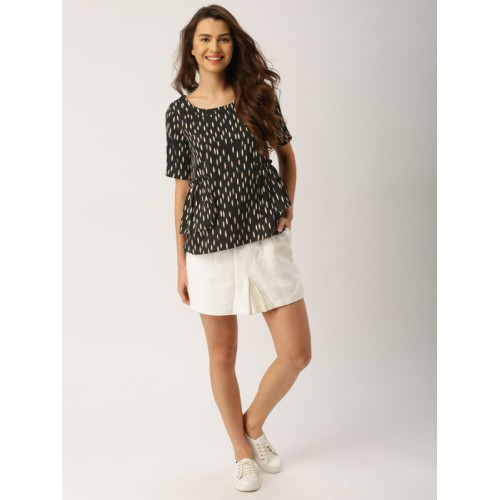 DressBerry Women Black Printed Top