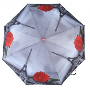 Asera 3 Fold Umbrella Designer Collection Effill Tower Rose Print