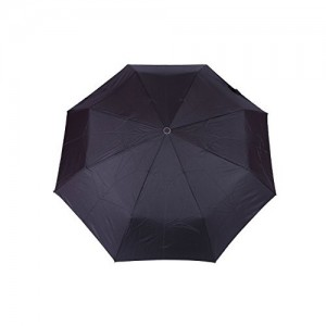FabSeasons Black Solid/Plain 3 Fold Automatic Umbrella for all Rains, Summer and all seasons