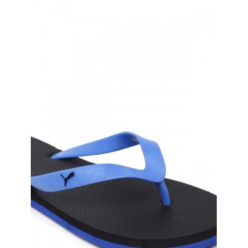 Puma Unisex Blue & Black Odius Flip-Flops