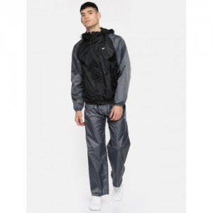 Wildcraft Grey and Black Rain Jacket