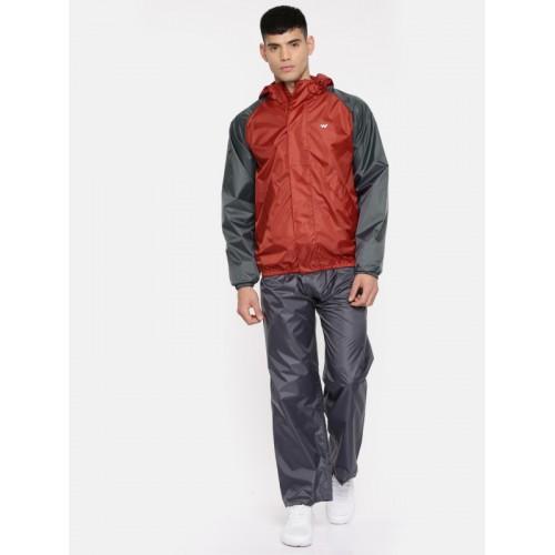 Wildcraft Red & Grey WaterProof Rain Jacket
