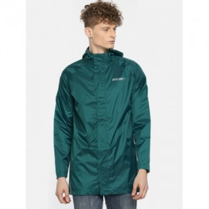 Wildcraft Men Teal Green Waterproof Rain Jacket