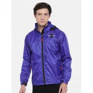 Sports52 wear Blue Hooded Rain Jacket